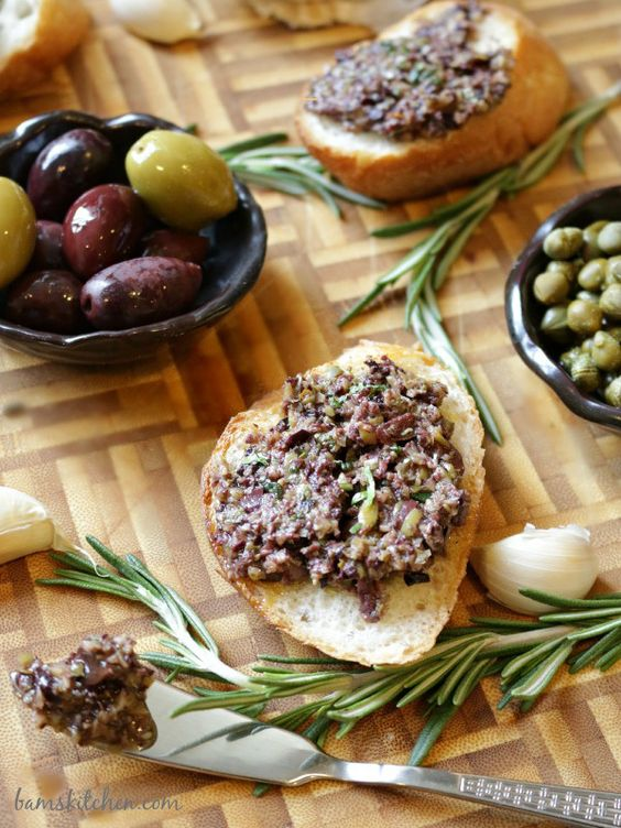 Rosemary and Garlic Infused Olive Tapenade- Bam's Kitchen
