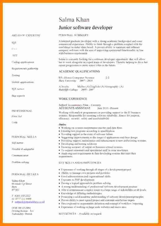 Cover Letter For Java Developer Inspirational 5 Junior Java Developer Resume Resume Examples Resume Writing Cv Template