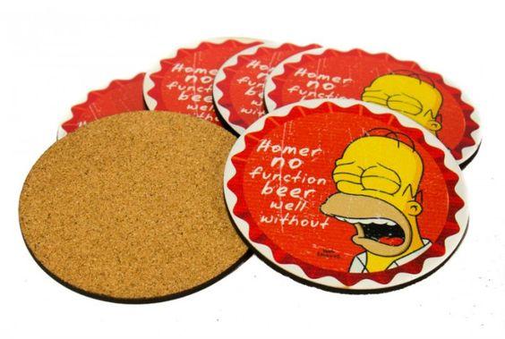 Porta Copos - Homer No Function - 6 unid