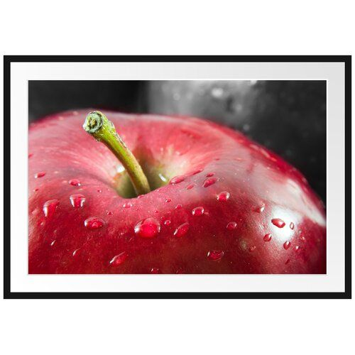 East Urban Home Red Apple With Water Droplets Framed Photographic Poster Coconut Milk Nutrition Watermelon Nutrition Facts Nutrition Education