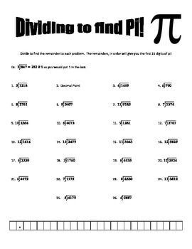 Dividing to find Pi   Pinterest   Division, Chang'e 3 and Long ...