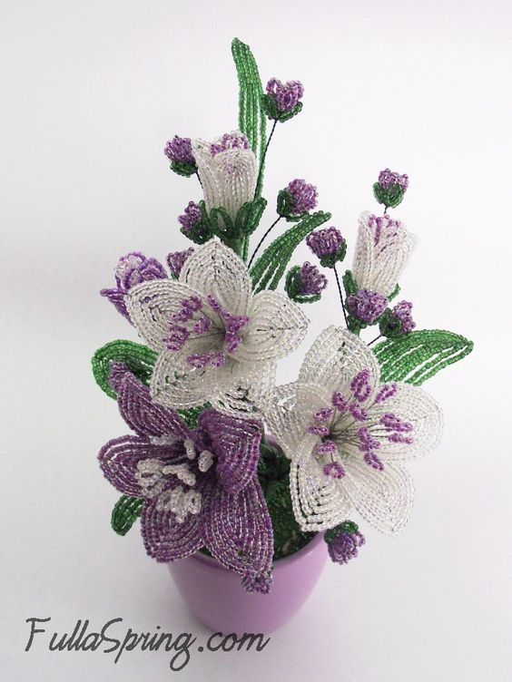 French beaded flowers: