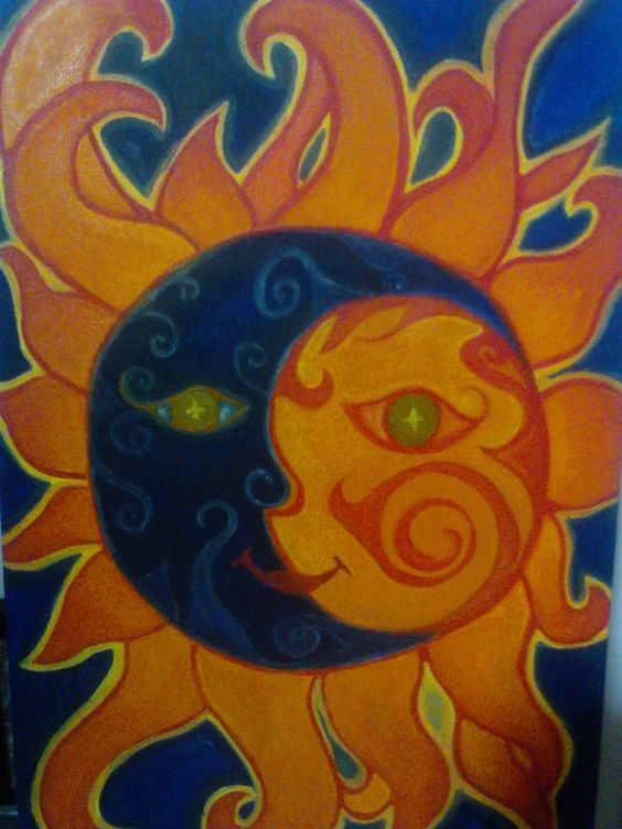 cuadro sol luna