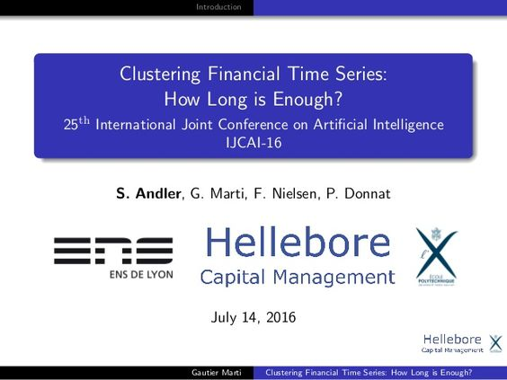 Clustering Financial Time Series: How Long is Enough?
