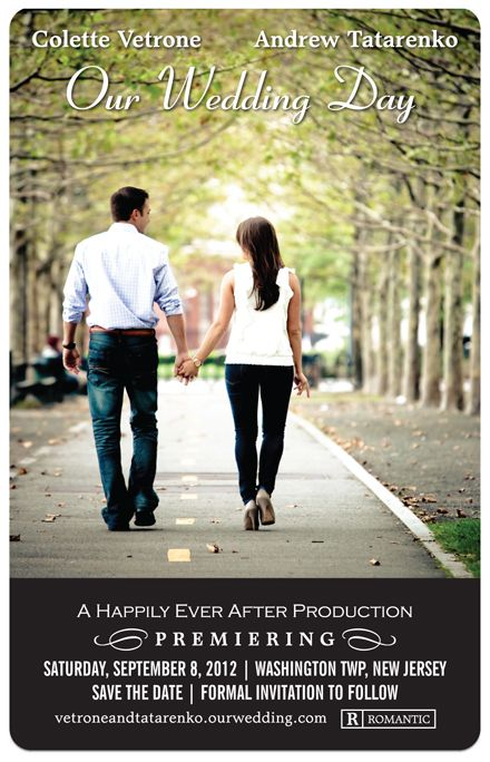 Plush Paper Design Blog Black and White Movie Poster Save the – Save the Date Wedding Photos