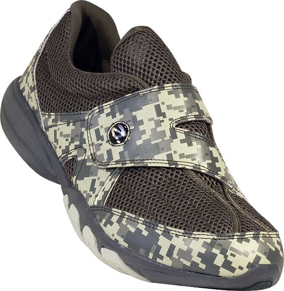 Zeko Vintage Green Camo Shoe - The Ultimate Performance Deck & Boating Shoe!  Water resistant & has a quick-drying microfiber wicking mesh upper. The velcro strap makes these shoes easy to put on and take off. The sturdy ventilated EVA sole keeps your feet cool and dry on the deck of your boat or on the beach!