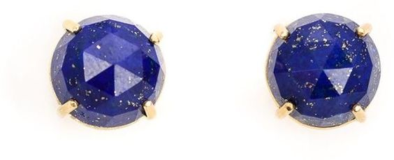 Irene Neuwirth 18kt gold lapis lazuli stud earrings