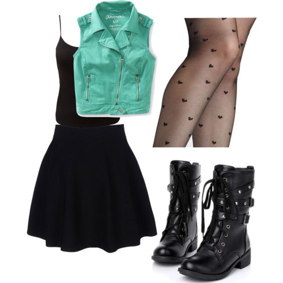 """Girly Punk"" by lovemily on Polyvore 