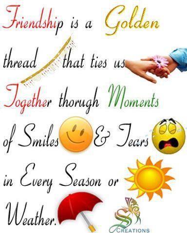 Friendship is a golden thread