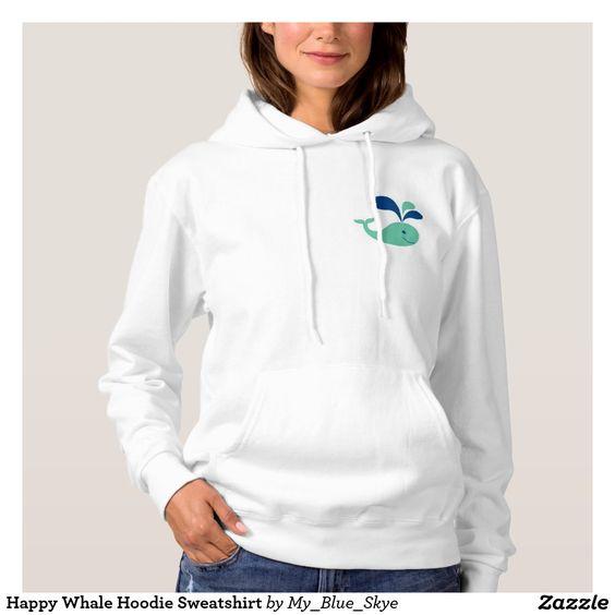 Happy Whale Hoodie Sweatshirt. #beachy #happy #fun #hoodies