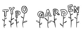 Typo Garden by Anke-Art