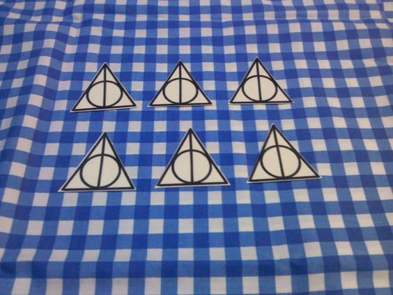 Deathly Hallows Temp Tattoo by Keropanda on Etsy, $5.00
