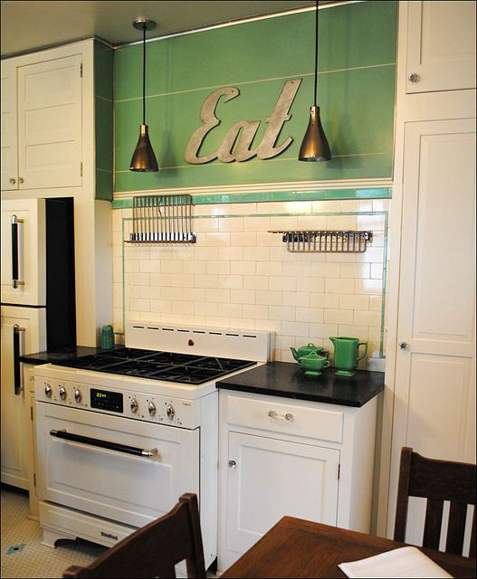 Cool Art Deco Kitchen Cabinets: 1930s, Kitchens And Eat Sign On Pinterest