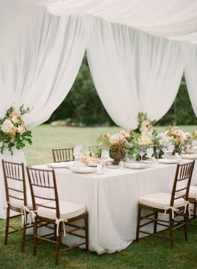 Dreamy garden wedding: http://www.stylemepretty.com/2015/03/05/dreamy-summer-garden-afternoon-wedding/   Photography: Megan Sorel - http://megansorel.com/
