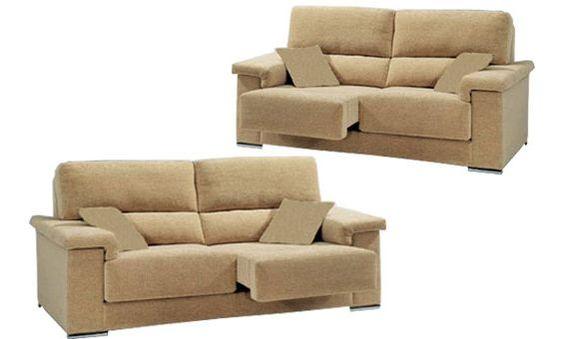 sof tres y dos plazas con asientos deslizantes sofas