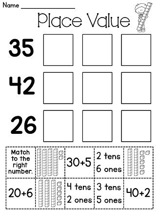 Printables Cut And Paste Worksheets For First Grade cut and paste first grade math places on pinterest place value worksheets