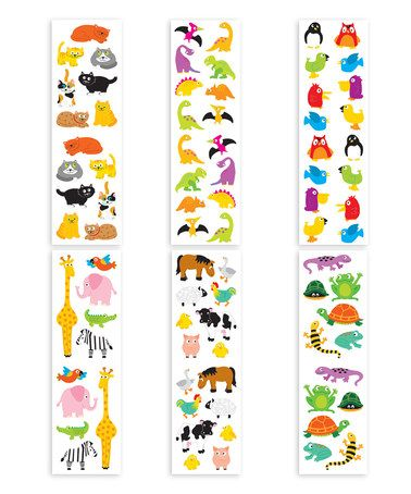 Another great find on #zulily! Chubby Animal II Sticker Set #zulilyfinds