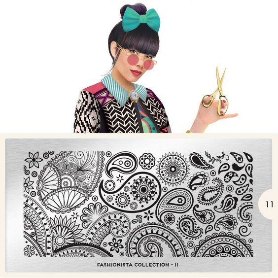 MoYou London Stamping Schablone *Fashionista Collection* 11 Paisley Ornament