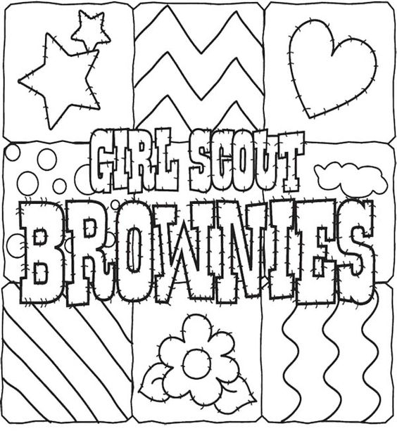 Girl scout cookies coloring pages for kids gs coloring for Girl scout coloring pages for daisies