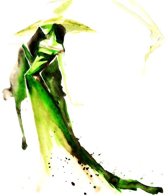 water color elphaba... if this tiny human is a girl for a wizard of oz room?  This is kinda whimsical and not as scary as just about every other one I've seen
