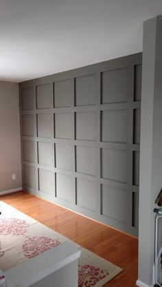 Diy Paneled Wall For Under 200 Home Home Remodeling New Homes