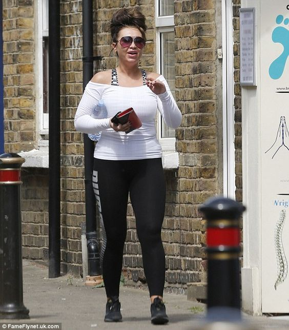 Stepping out: Lauren Goodger was working a more dressed down sports look on Thursday as she turned her attention to her feet, and headed out for a pedicure