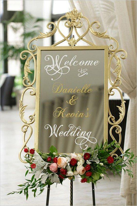 mirror wedding sign via Bumby Photography / / http://www.himisspuff.com/mirror-wedding-ideas/2/