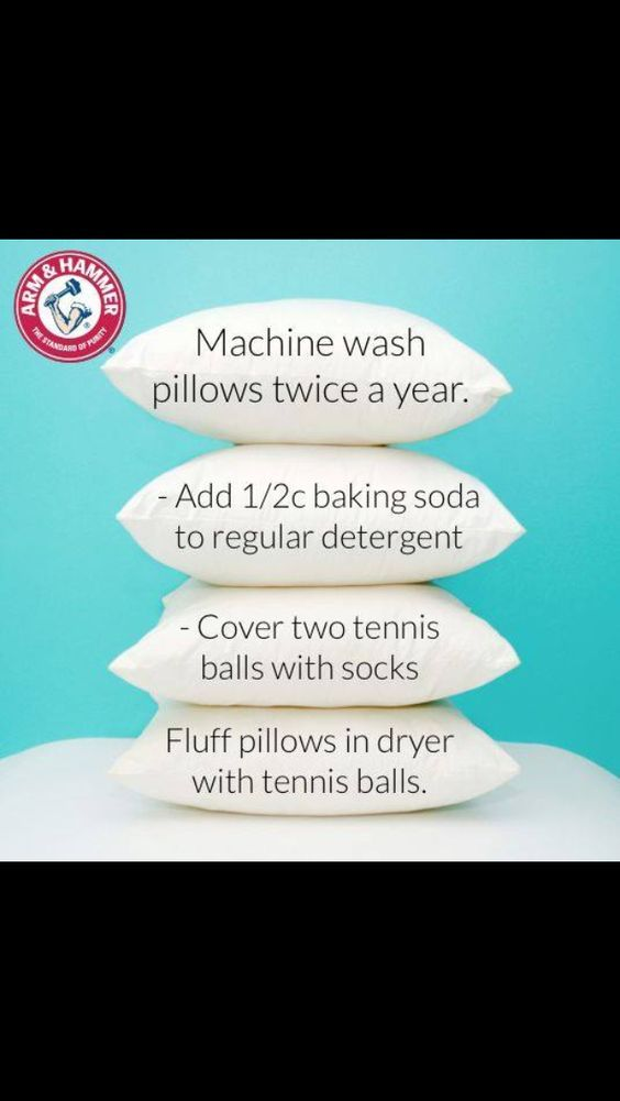 Pillow cleaning tips::