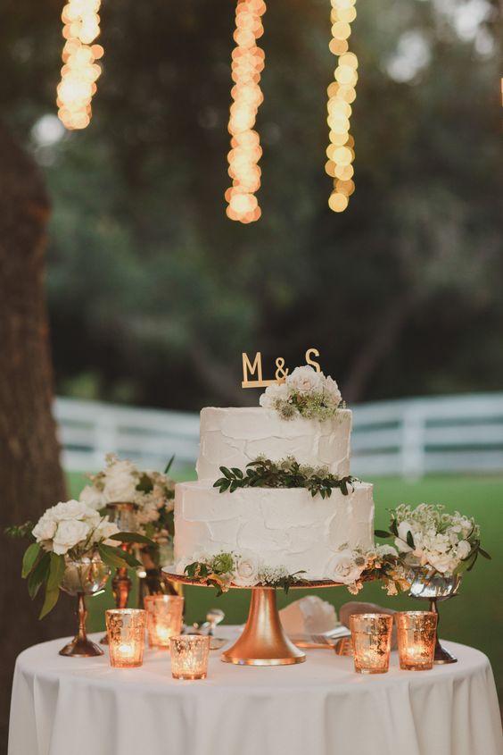 simple white #wedding #cake @weddingchicks