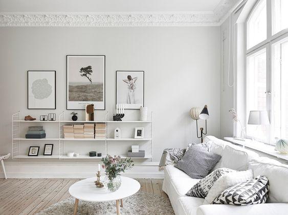 rangement mural style scandinave livres photos et design. Black Bedroom Furniture Sets. Home Design Ideas