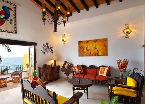 Mexican Inspired Decor living-room