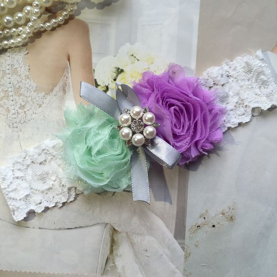 Wedding Garter , bridal garter, wedding lace garter,Ivory Lace Garter, Toss Garter,Lavender and mint green garter by AnnaBridalBoutique on Etsy https://www.etsy.com/listing/235268906/wedding-garter-bridal-garter-wedding