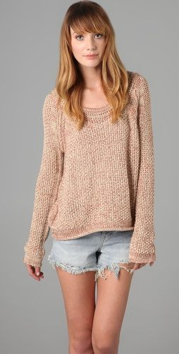 Sahara Star Sweater by Free People in Strawberries and Cream. Reminds me of Isabel Marant. $88