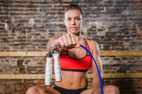 """This Custom Rx Jump Rope was designed by 4x Crossfit Games Athlete Julie Foucher. The Spiral Wipe Out White handles feature her signiture on one and her catch phrase """"Desire.Deserve.Believe.Inspire"""" on the other. Includes a custom Rx rope bag with her signiture and catch phrase """"Desire.Deserve.Believe.Inspire""""."""