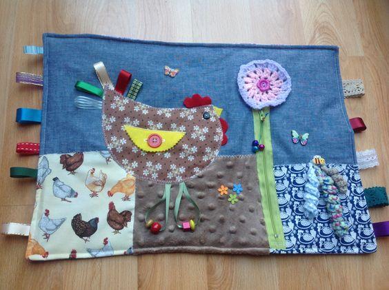 Chicken fidget blanket quilt