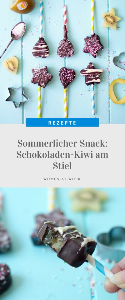 Sommerliche Erfrischung: Schokoladen-Kiwi am Stiel