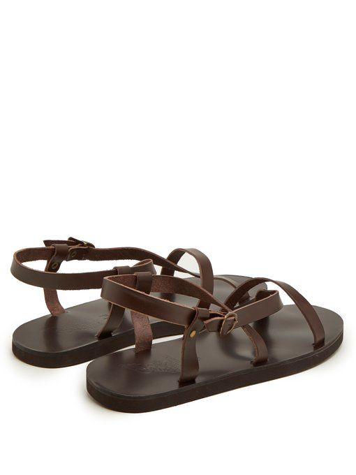 Ambrosios leather sandals   Ancient