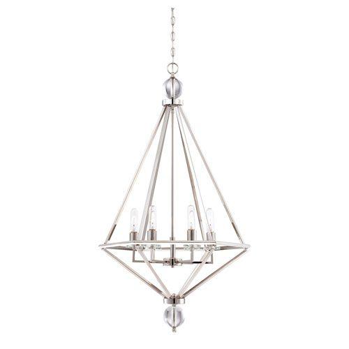 Tekoa Polished Nickel Six-Light Pendant