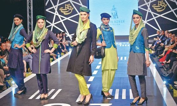 Designer Nida Azwer shows her capsule collection at the PIA show.—White Star
