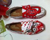 Handpainted, customized Oklahoma Sooner Toms Shoes. **speachless**