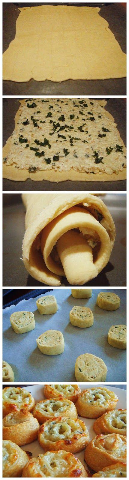 Easy Three Cheese Pinwheel Appetizers
