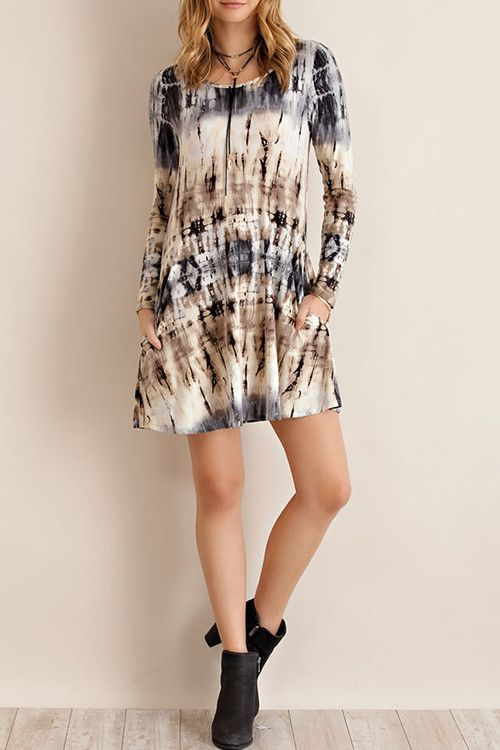 Marbled Tye Dye Tunic Dress