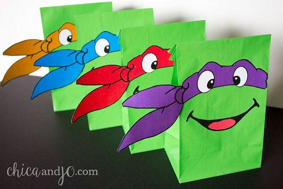 Teenage Mutant Ninja Turtles Party Favor Bags  par chicaandjo