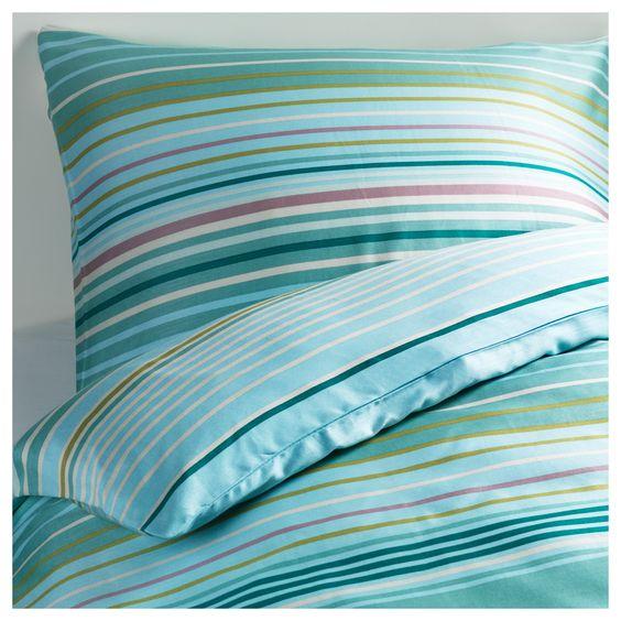 PALMLILJA Dekbedovertrek met 2 slopen - 240x220/60x70 cm - IKEA - beddengoed in frisse kleuren
