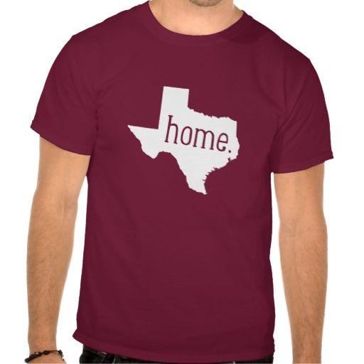 Texas Home State Tee Shirt