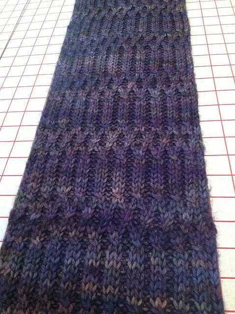 Walker Scarf Cable Merino Wool And Yarns