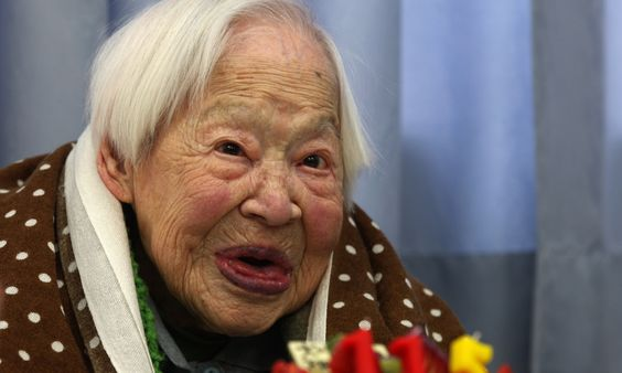 Japanese daughter of a kimono maker, who once declared that life seemed too short, died peacefully as if she had fallen asleep, nurses said