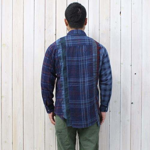 Rebuild by Needles (ニードルズ)『7Cuts Flannel Shirt』(Indigo Dye) - REGGIE ショップ 通販
