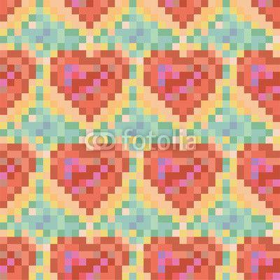 Seamless colroful heart pattern