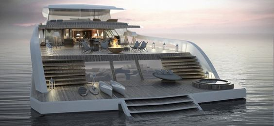 The X-Easy is a combined yacht and beach house concept